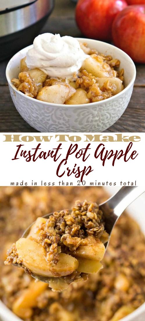 Instant Pot Apple Crisp #healthyrecipe #dinnerhealthy #ketorecipe #diet #salad
