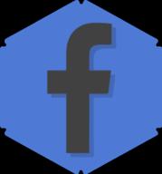 facebook hexagon icon