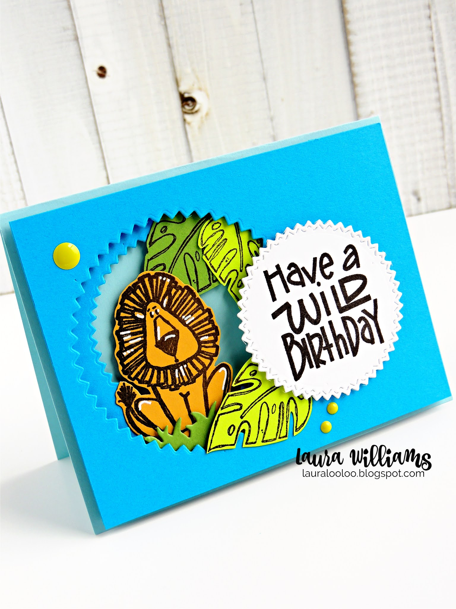 Have a Wild Birthday - Tunnel Card Idea and Tutorial with Impression Obsession Stamps and Dies. Check out these ideas to create a simple tunnel card with foam adhesive and nesting dies.