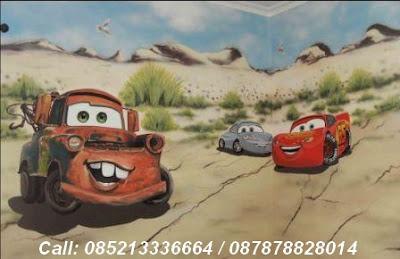 mural lukis tema cars