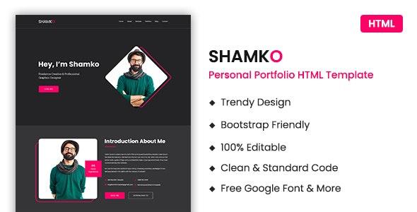 Personal Portfolio / CV / Resume HTML Template
