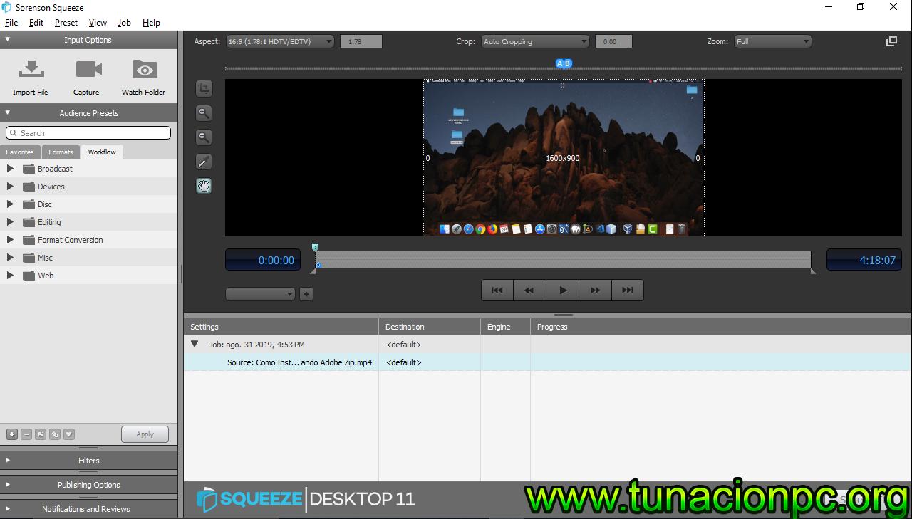 Descargar Sorenson Squeeze Pro para MacOS
