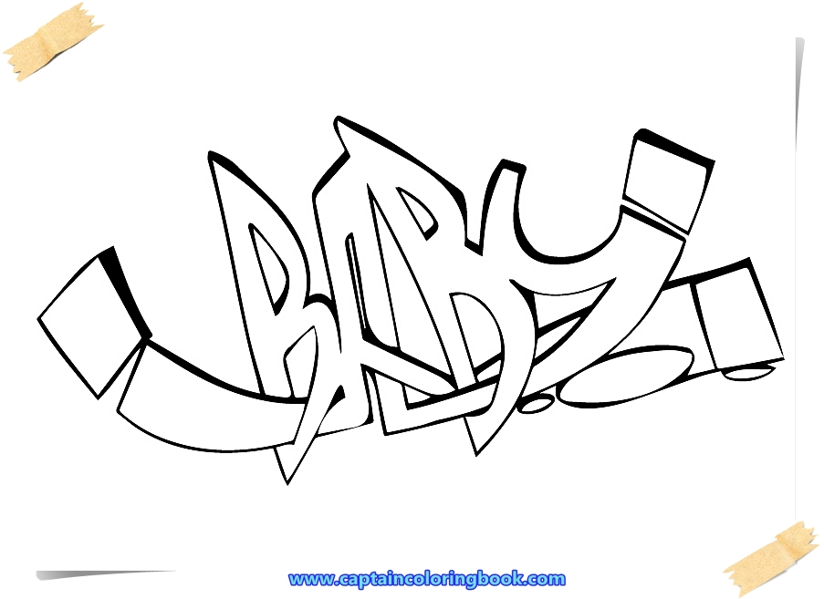 Graffiti Coloring Pages - Coloring Page