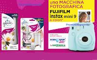 Logo Con Glade vinci macchine fotografiche istantanee Fujifilm ( Acqua&Sapone e La Saponeria)