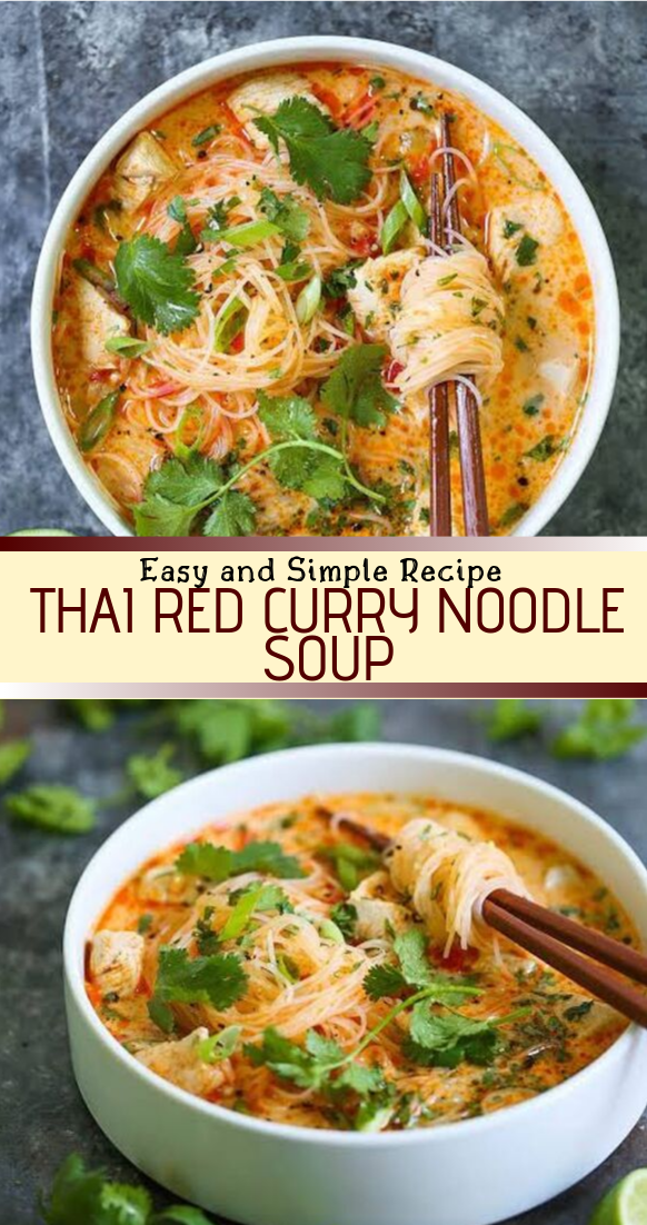 THAI RED CURRY NOODLE SOUP #healthyfood #dietketo #breakfast #food