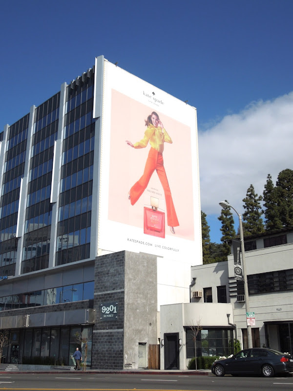 Giant Kate Spade fragrance billboard
