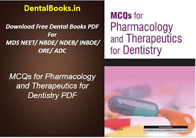 MCQs for Pharmacology and Therapeutics for Dentistry PDF-DENTAL BOOKS