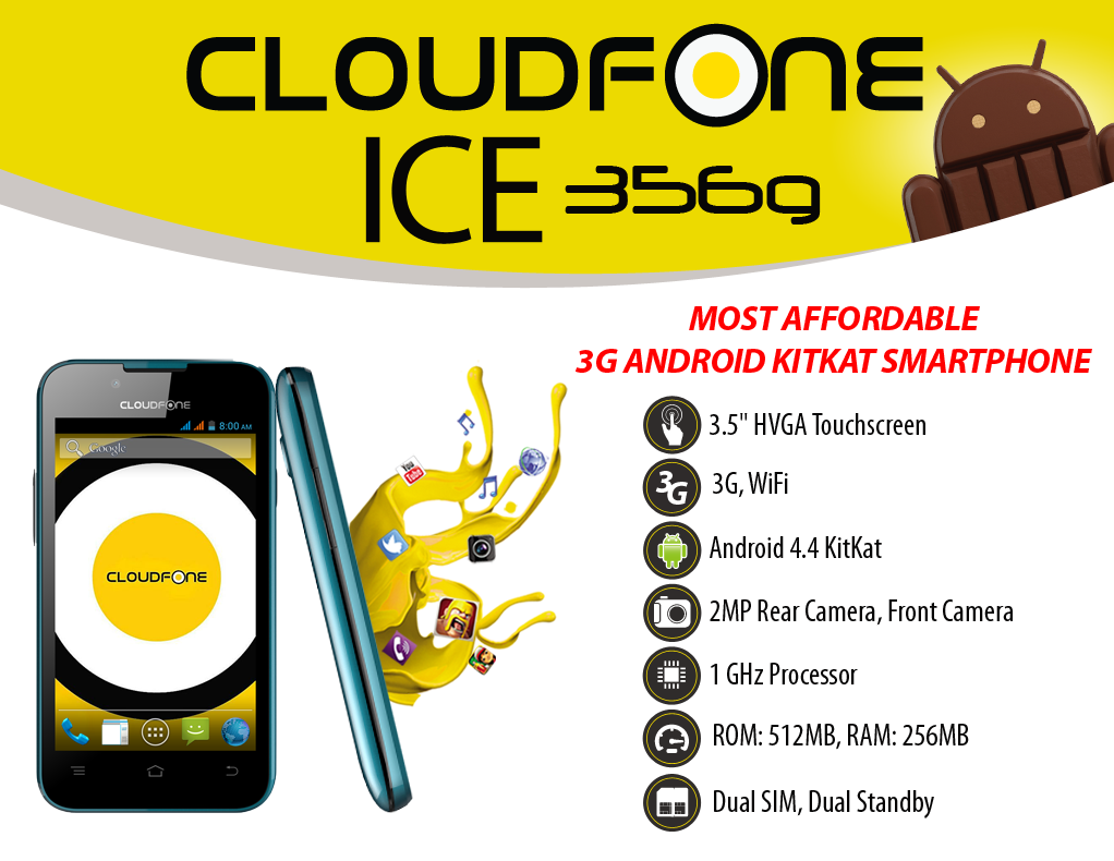 CloudFone Excite 356g Specs and Price