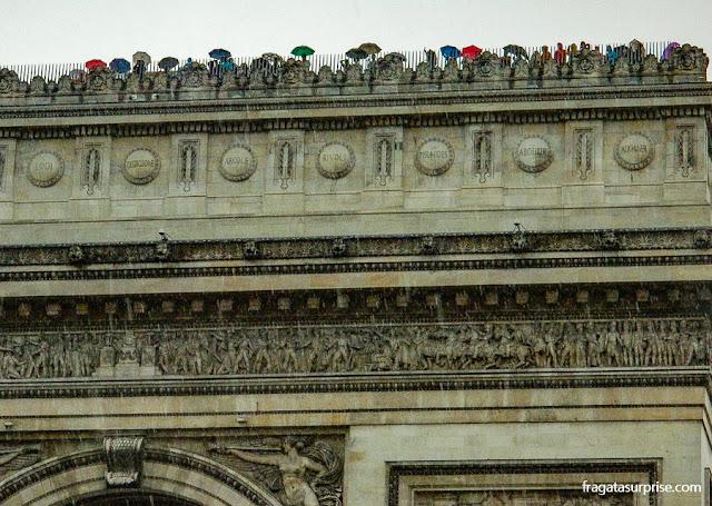 Terraço do Arco do Triunfo, Paris