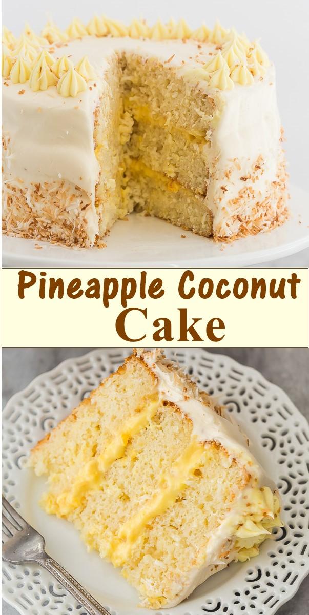 Pineapple Coconut Cake #cakerecipes