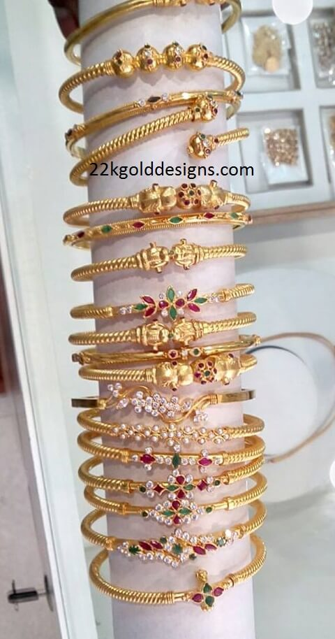 4 to 6 Grams Gold Kada Bangles Designs