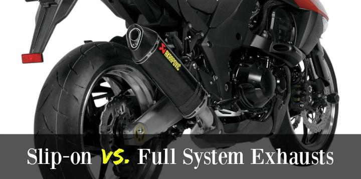 slip on vs full system motorcycle