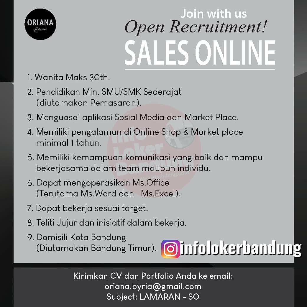 Lowongan Kerja Sales Online Oriana Boutique & Scarves Bandung Desember 2019