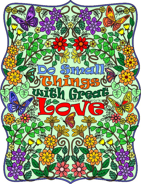 Do Small Things with Great Love sample colored page