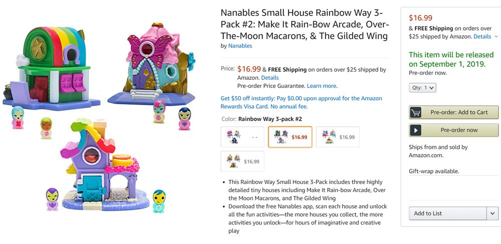 Nanables price and release date Rainbow Way