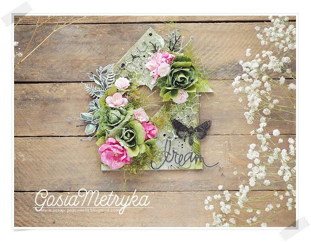 domek HDF pełen kwiatów