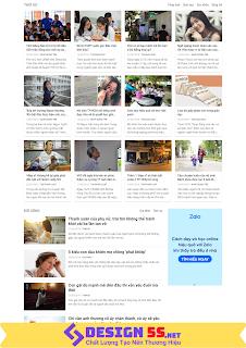 Template blogspot blog tin tức báo chí đẹp chuẩn SEO VSM57 - Ảnh 2