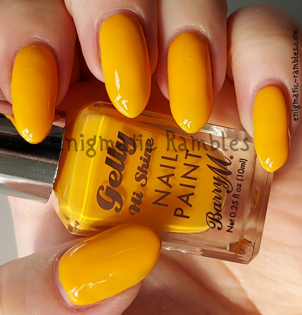 Nail Polish Swatch Barry M Pineapple Punch Summer 2021 Gelly