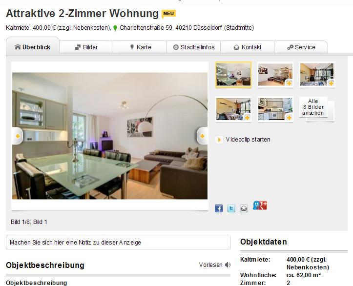 attraktive 2 zimmer wohnung. Black Bedroom Furniture Sets. Home Design Ideas