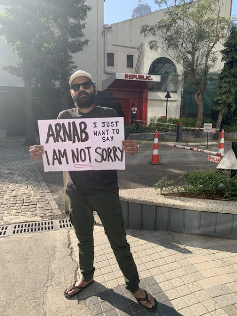 """Standup comedian """"kunal kamra"""" banned by four airlines for heckling """"Arnab goswami"""""""