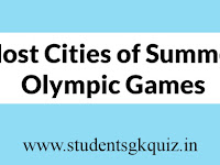 Host Cities of Summer Olympic Games