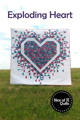Exploding Heart quilt pattern