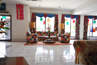 Lounge area of Palermo Hotel in Baybay, Leyte