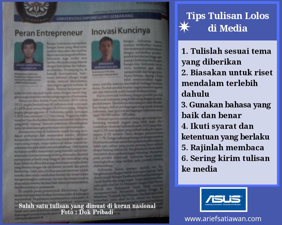 tips tulisan lolos di koran