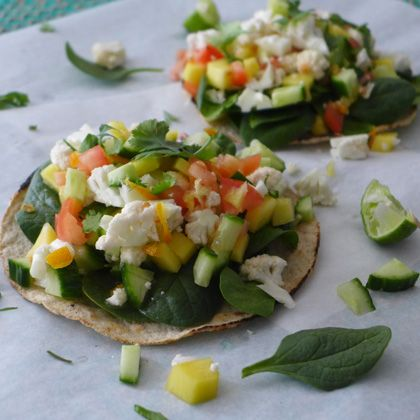 Vegetarian Cauliflower Ceviche Tostadas