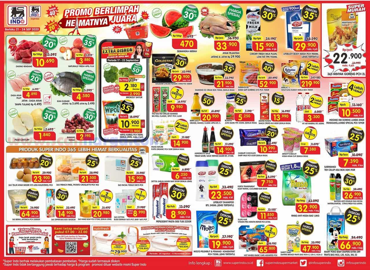 Promo SUPERINDO Katalog Weekday 21 - 24 September 2020