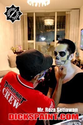 face painting skeleton horror jakarta
