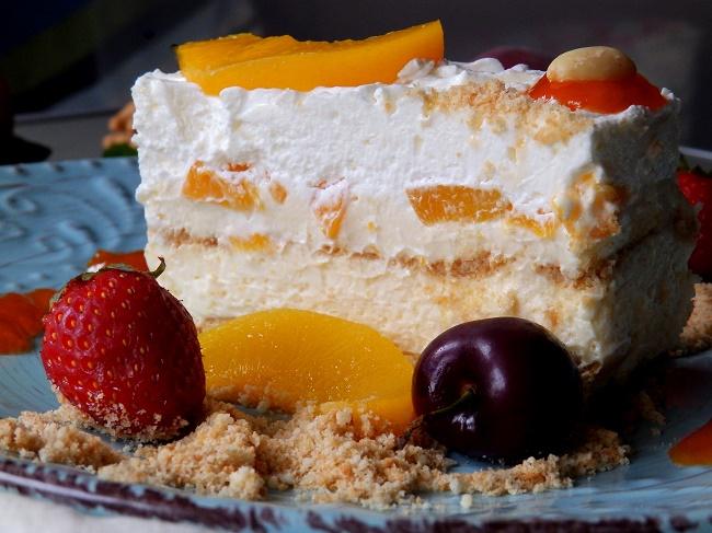 Τούρτα cheesecake με ροδάκινο ή το καλοκαίρι στο πιάτο σου!