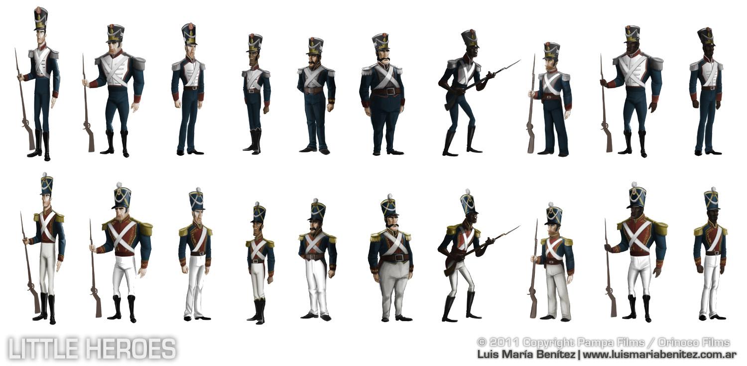 soldier characters / personajes de soldados © Luis María Benítez