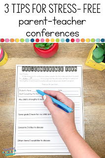 pin for 3 tips for stress-free parent conferences