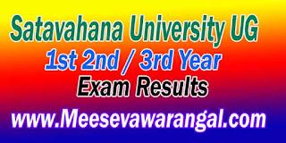 Satavahana University UG 1st/2nd / 3rd Year 2016 Exam Results
