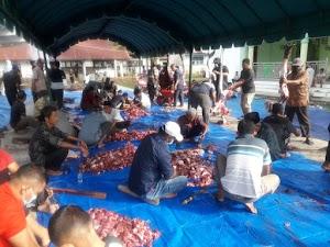 Momen Idul Adha, PCM Manggeng Aceh Barat Daya Santuni 1100 Mustahiq
