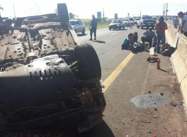 Despiste en el acceso Sur de Posadas dejó cuatro personas lesionadas