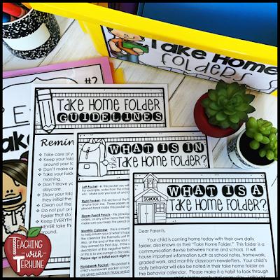Take Home Folder Parent Notes