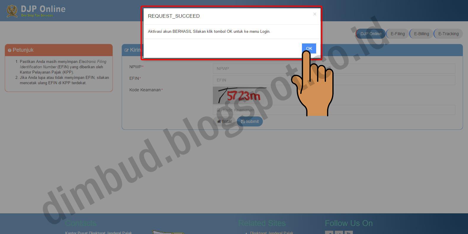 Catatan si Dimbud: Cara Mendaftar Situs DJP Online (e ...