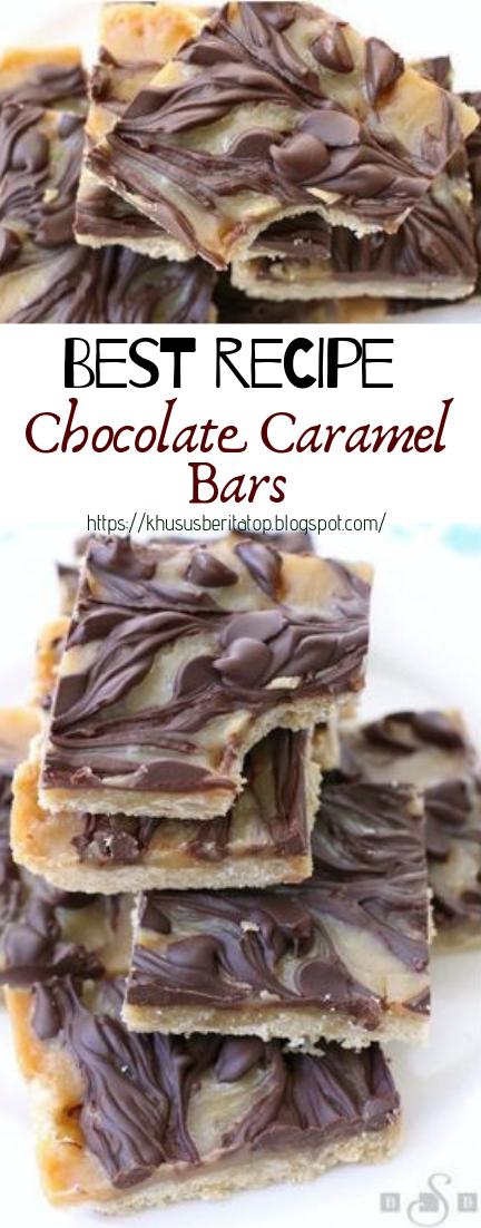Chocolate Caramel Bars #desserts #cakerecipe #chocolate #bars #caramel