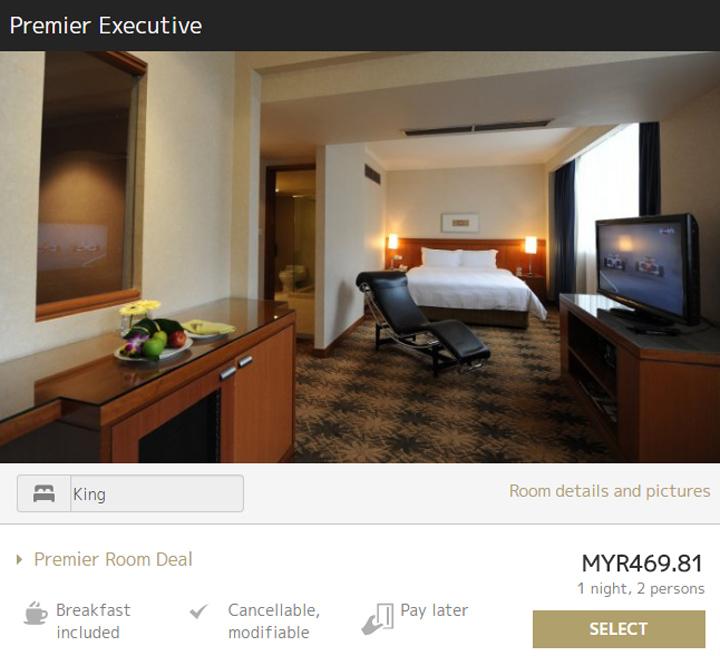 Harga bilik hotel di Concorde Kuala Lumpur