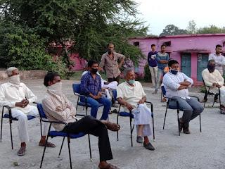 आगामी त्यौहारों के देखते हुए नगर शांति समिति की बैठक सम्पन्न