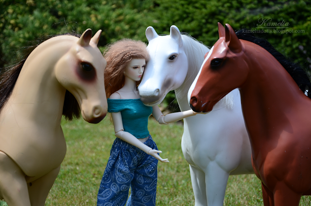1/4 scale horses