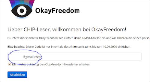 Okayfreedom Seriennummer