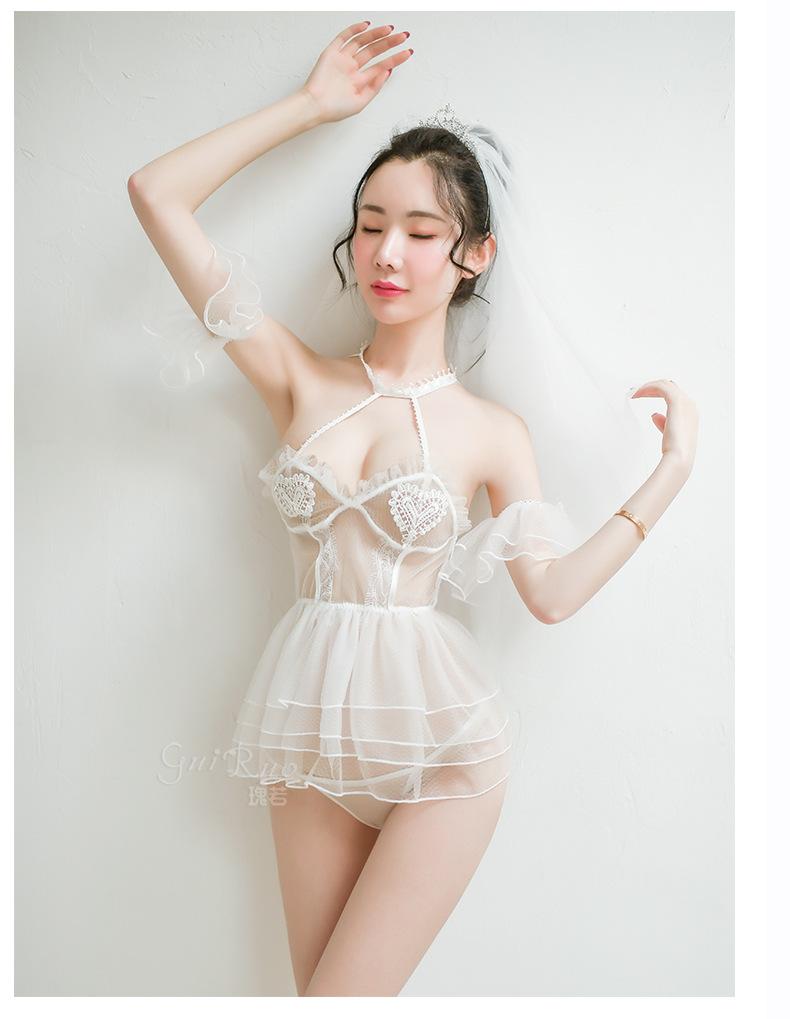 Váy ngủ cosplay cô dâu trắng sexy 4