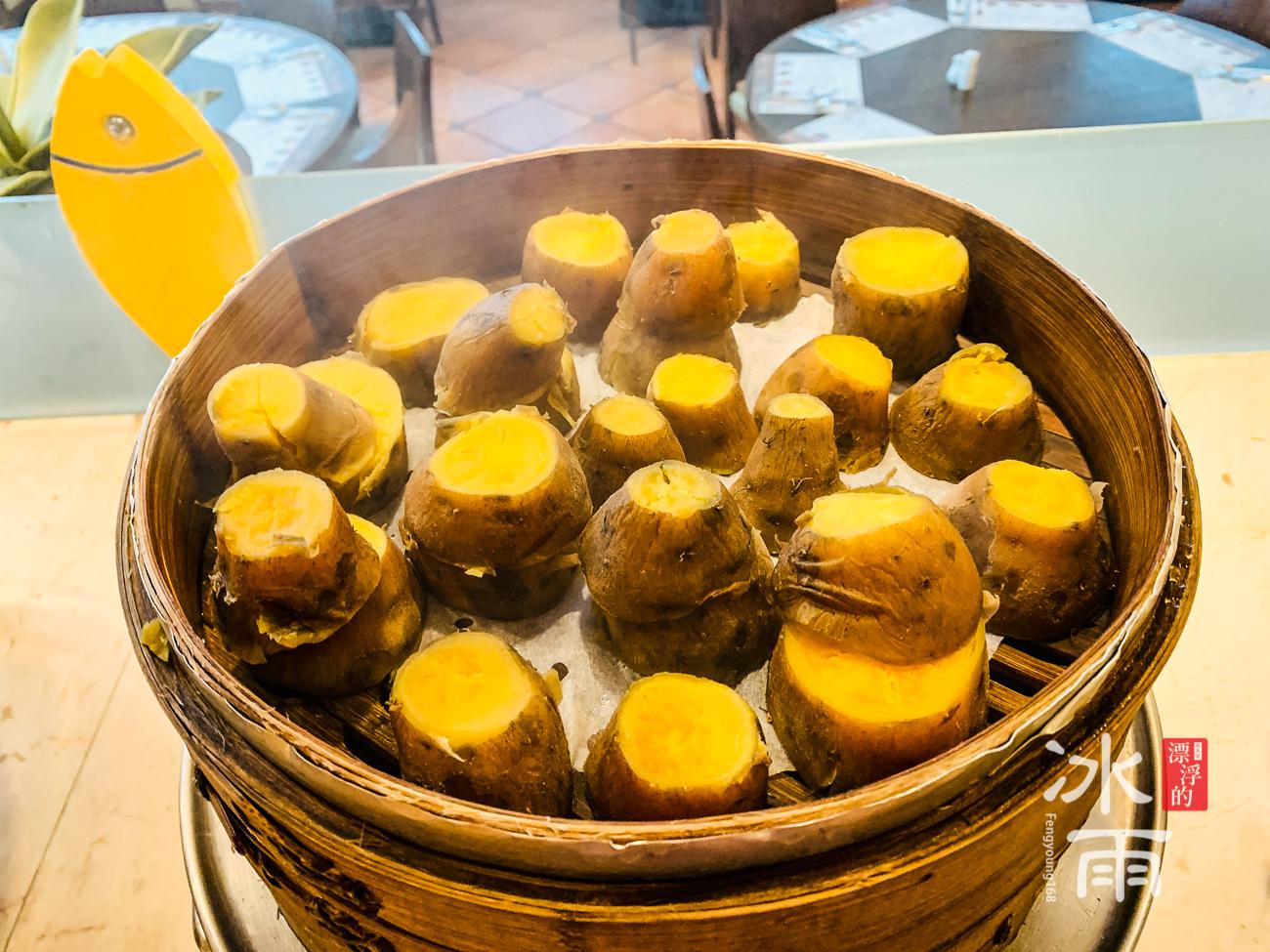 陽明山天籟溫泉會館|早餐菜色|金山在地地瓜