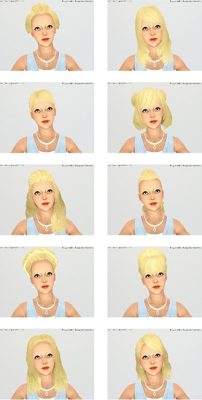 My Sims 3 Blog Ea Gamestore Hairs Convertededited By Wojtek