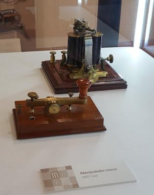 Exfiastur 2018, material del Museo Postal y Telegráfico. Manipulador morse
