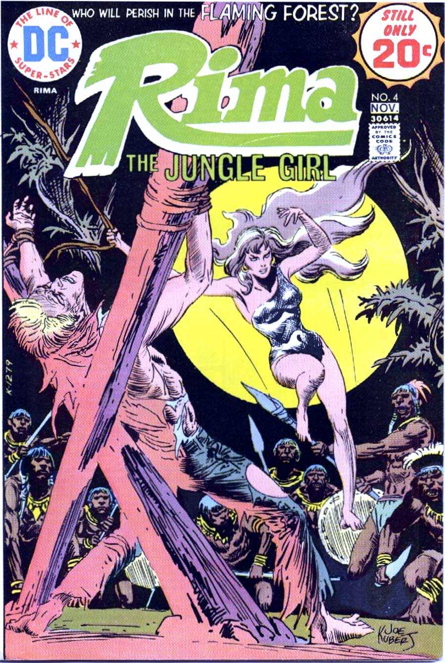 Rima the Jungle Girl v1 #4 dc bronze age comic book cover art by Joe Kubert