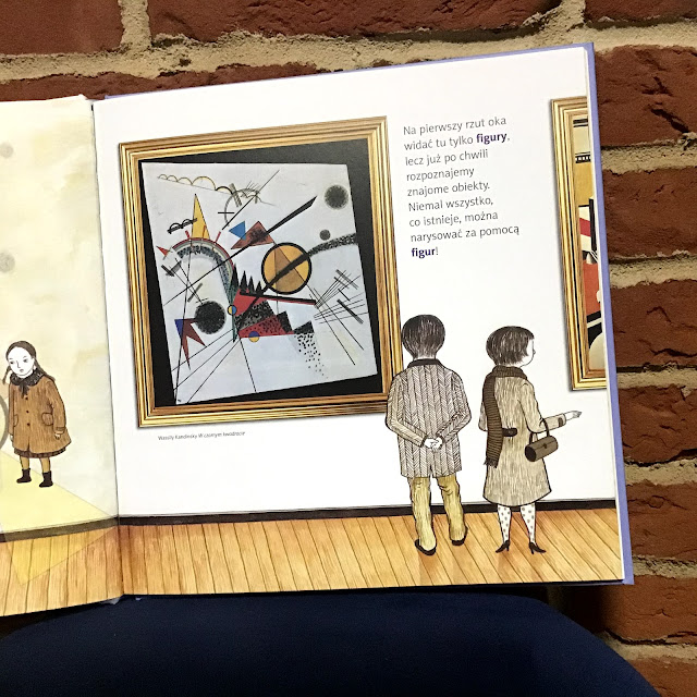 """""""Obrazy matematyki. Z wizytą w muzeum sztuki"""", Majungmul, Kim Yun Ju, Adamada, książka obrazkowa dla dzieci wczesnoszkolnych o sztuce"""